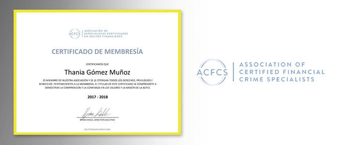 Certificado de Membresía